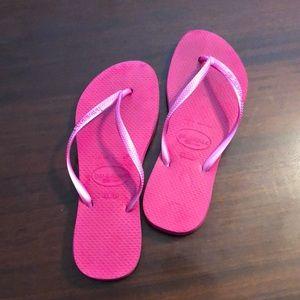 havaianas Slim Pink flops